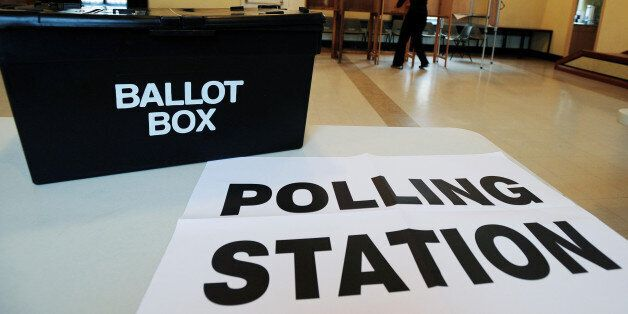 The scene at the polling station at Market Hall in Swadlincote, Derbyshire, as the General Election got...