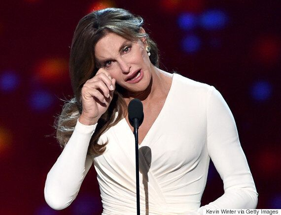 Caitlyn Jenner Stuns In Versace Gown At ESPYs As She Makes Tearful Speech After Collecting Arthur Ashe...