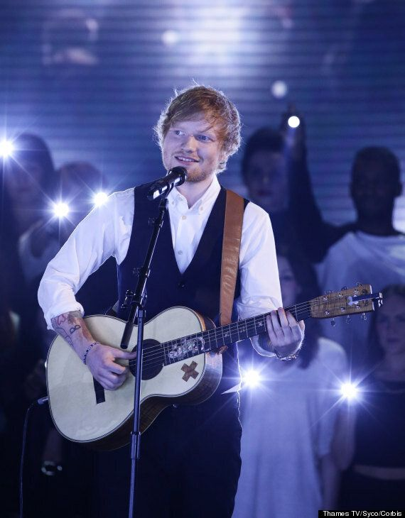 'X Factor': Ed Sheeran Performs New Single 'Thinking Out Loud' Live On Sunday's Results Show