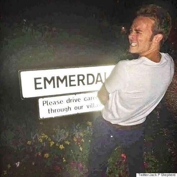 'Coronation Street' Actor Jack P Shepherd Quickly Deletes Inappropriate 'Emmerdale' Sign Photo