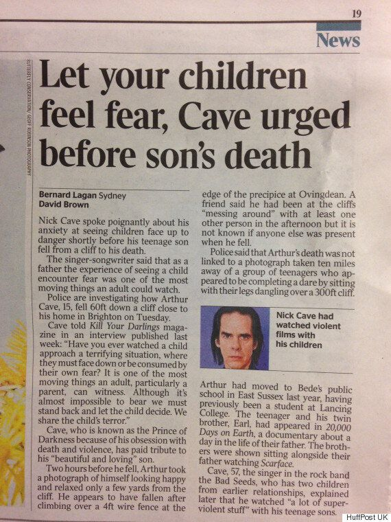 The Times Takes Down 'Inappropriate' Nick Cave Article After 'Shameful' Coverage Of His Son's Cliff Fall
