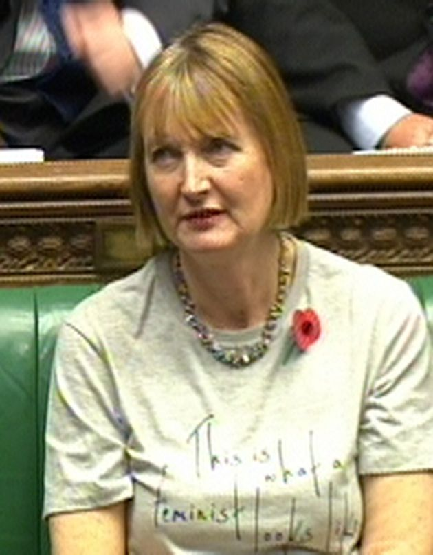 Harriet Harman Targets David Cameron With Feminist T-Shirt During