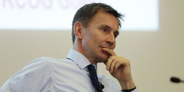 Health Secretary Jeremy Huntspeaks at the Reform think tank's The Future of Health conference, at the...