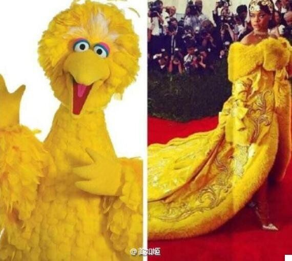 Rihanna's Met Gala 'Big Bird' Dress Certainly Kept Twitter Entertained
