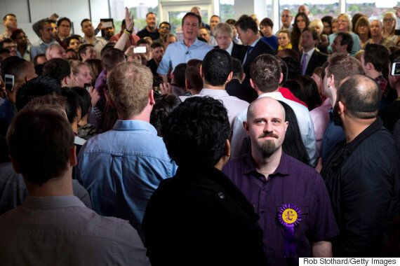 David Cameron Photobombed By Ukip Supporter On General Election 2015 Campaign