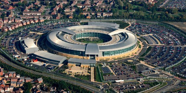 Amidst the houses and the car parks sits GCHQ the Government Communications Headquarters in this aerial...