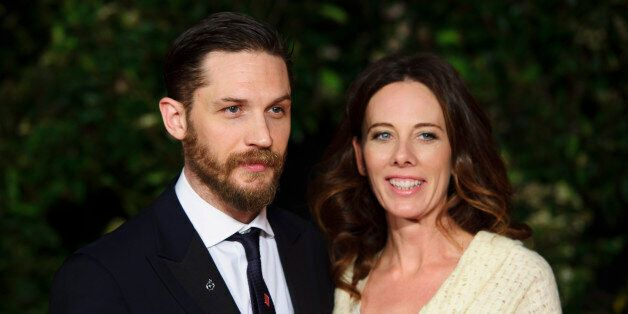 Tom Hardy and Kelly Marcel arrive for the British Academy Film Awards 2014 After Party at the Grosvenor...