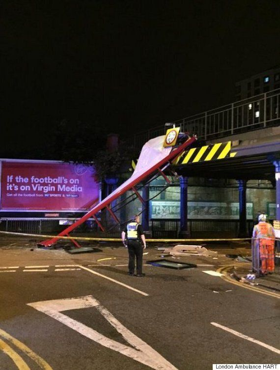 London 197 Bus Has Roof Ripped Off After Ploughing Into