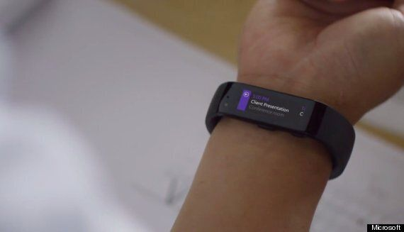 Microsoft Band Smart Watch Works With iOS, Android And
