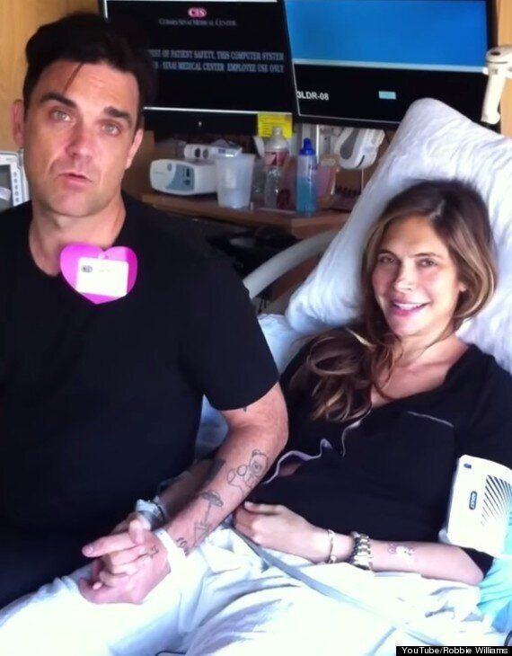 Robbie Williams Reveals Baby Son's Name With Another Family Video, Starring Wife Ayda