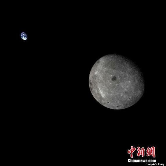 China's Lunar Probe Takes Incredible Picture of Earth And Moon