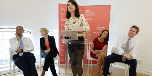 Candidate for Labour leader, Liz Kendall makes a speech in Brixton after visiting Brixton Solar in south...