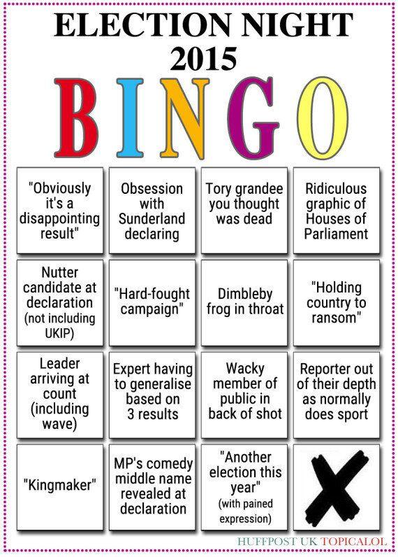 Election Night 2015: The Bingo