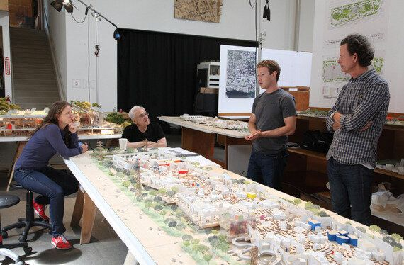 Collisions at Facebook: Mr. Gehry's Social Office is a Hadron Collider of