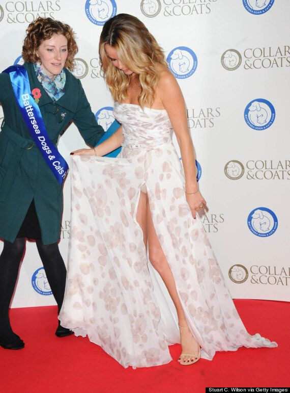Amanda Holden Flashes Her Pants On The Red Carpet At Battersea Coats And Collars Charity Gala