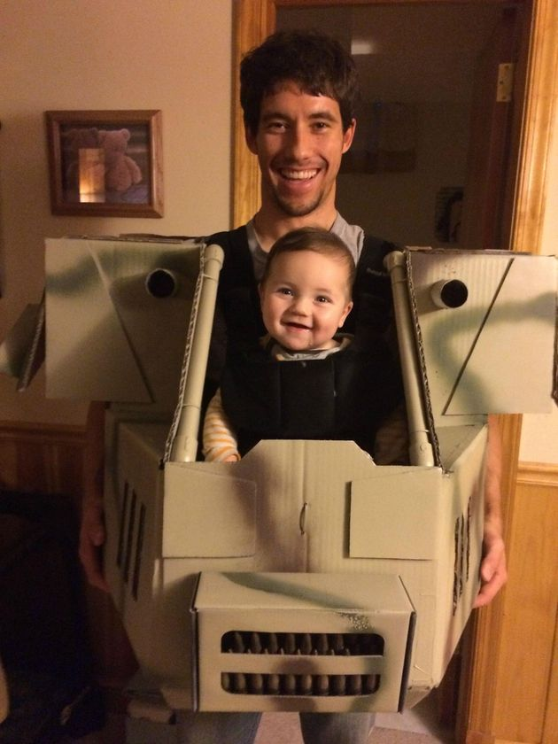 This Father And Son's MechWarrior Halloween Costume Is