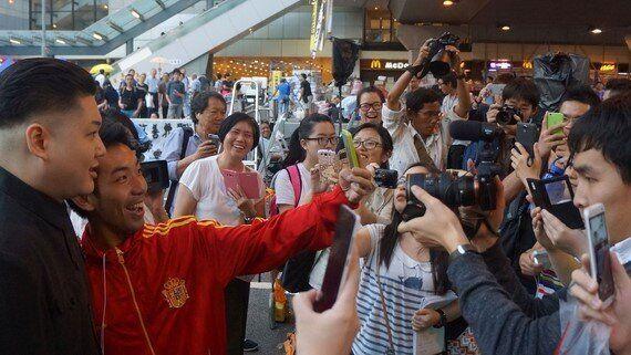 'Kim Jong-Un' Pays a Visit to Hong Kong's Umbrella Movement