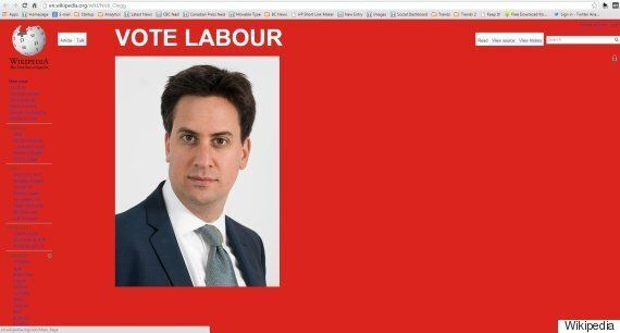 Ukip's Wikipedia Page Hacked To Show Ed Miliband And Urge A Labour General Election