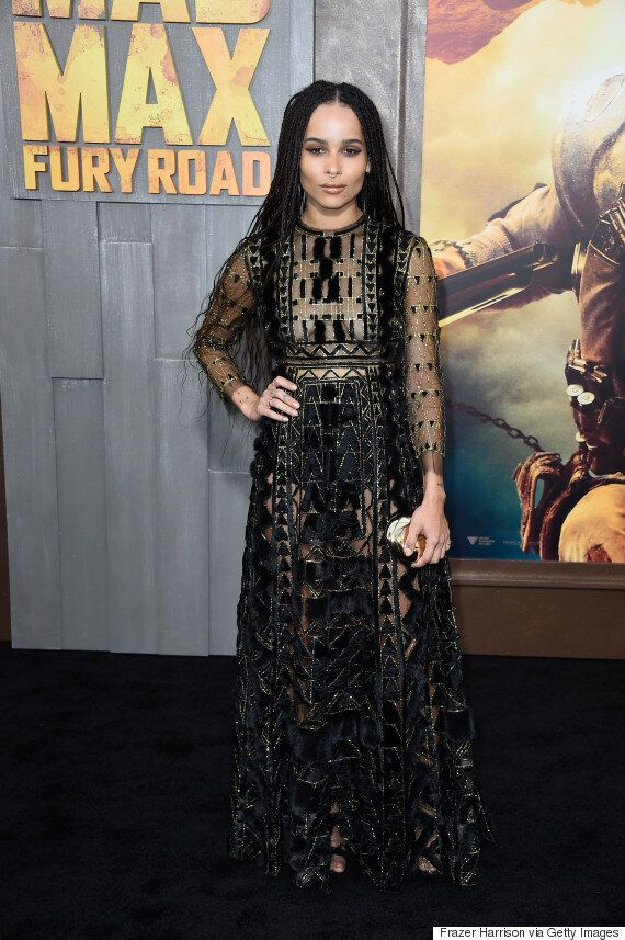 Zoe Kravitz, In Valentino, Shows The Rest Of Us How To Pull Off A Septum Ring At Mad Max