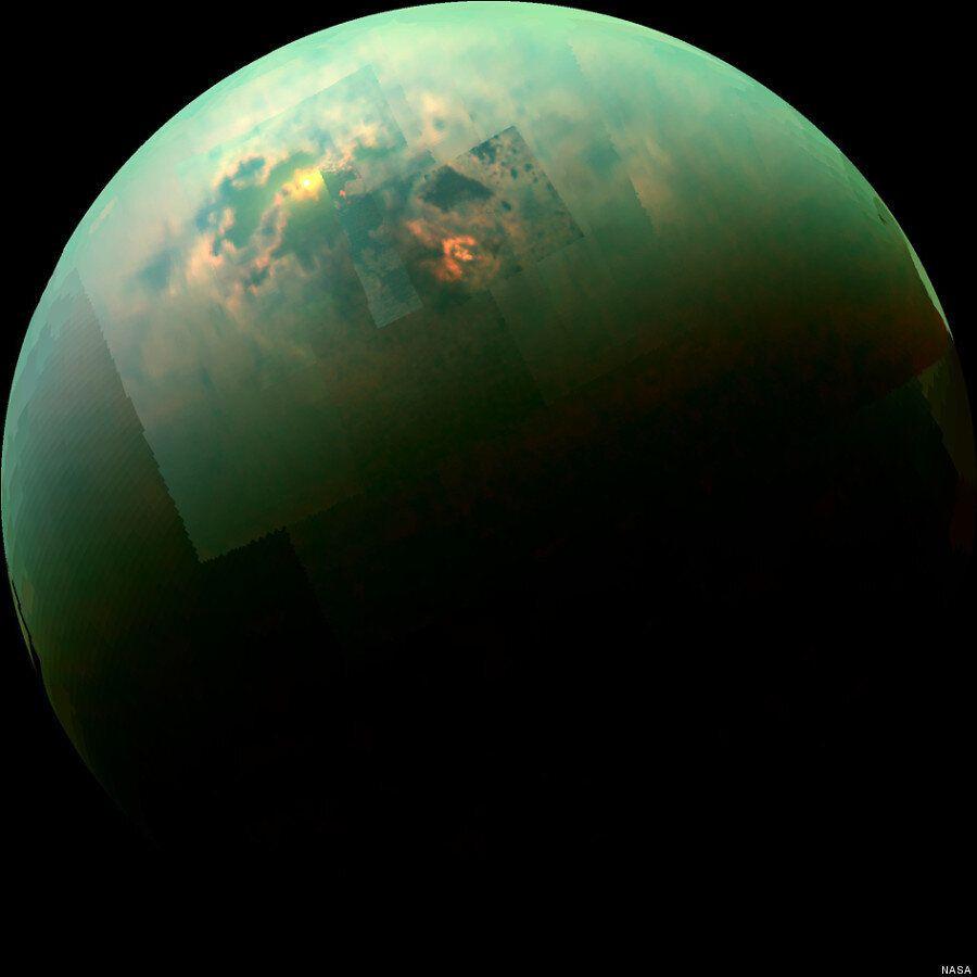 Titan Photo: Lakes Glisten On Saturn's Moon As Captured By