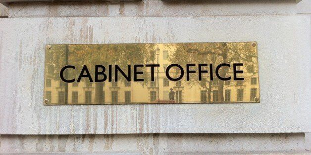 Sign outside Cabinet Office, Whitehall, London