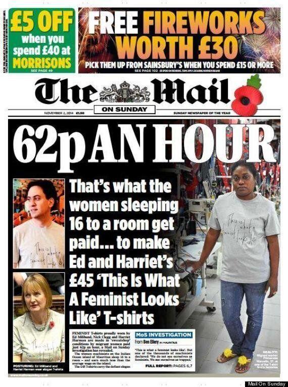 Mail On Sunday Feminist T-Shirt Sweatshop Report Fiercely Denied By Fawcett