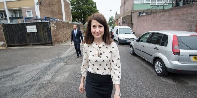 Candidate for Labour leader Liz Kendall visits Brixton Solar in south London where she saw how solar...