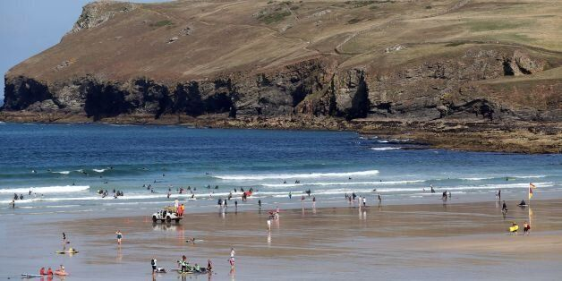 File photo dated 20/08/13 of Polzeath beach, Cornwall, as more English beaches will be able to fly the...