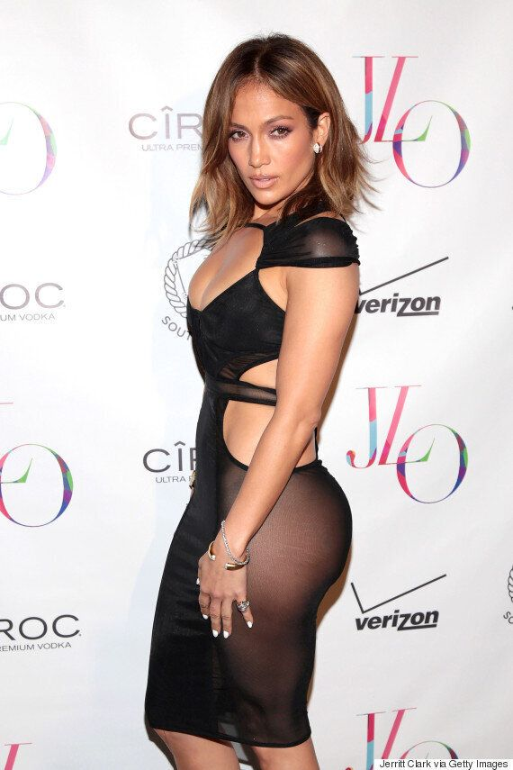 Jennifer Lopez Celebrates Her 46th Birthday In Style With Sheer, Cut-Out Ensemble