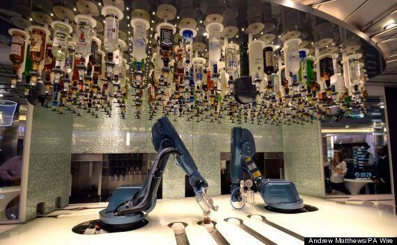 Robot Barmen Onboard 'Quantum Of The Seas' Aren't After Your Job,