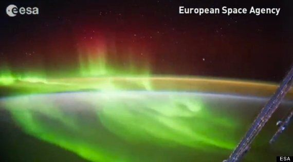 ISS Captures Stunning Aurora Display Over New