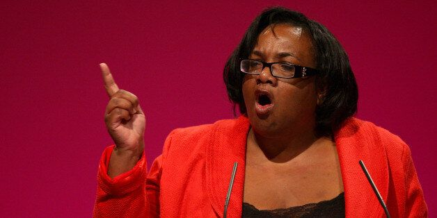 Diane Abbott speaking at the Labour Party's annual conference in
