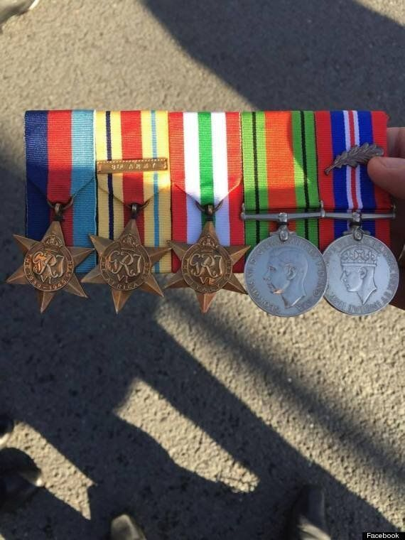 War Medals Found Near Cenotaph On Remembrance