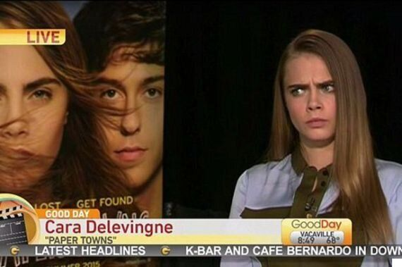 Cara Delevingne's Interview About 'Paper Towns' On US TV Is Seriously Awkward, Unimpressed Presenter...