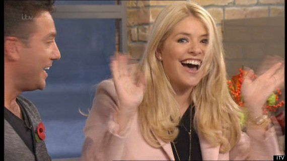 Holly Willoughby Surprises Phillip Schofield And Amanda Holden With Surprise 'This Morning'