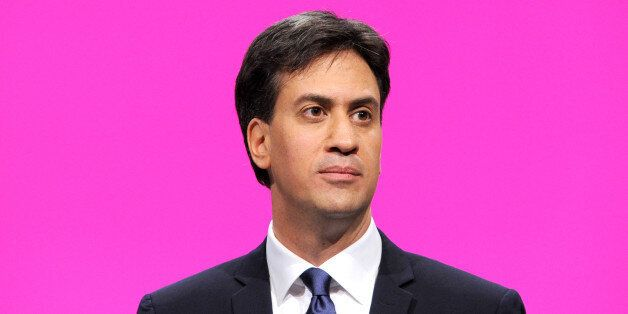 Labour leader Ed Miliband delivers the leaders speech during the Labour Conference 2014 at the Manchester