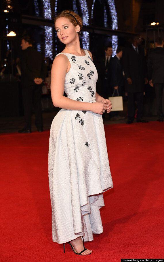 Jennifer Lawrence Laughs Off Boob-Slip Wardrobe Malfunction At 'Mockingjay' Premiere, After Switching...