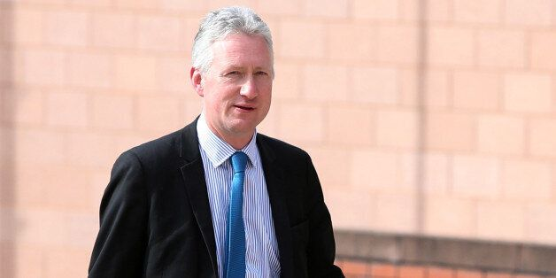 Lembit Opik arrives at Preston Crown Court as a witness in the trial for former deputy speaker of the...