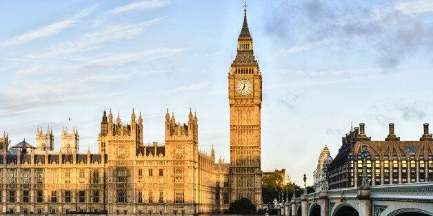 Sunrise shining on Big Ben, London, United
