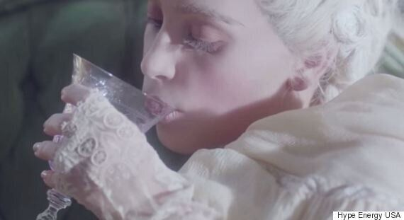 Kim Kardashian's Hype Energy Drink Advert Sees Her Channel Marie Antoinette (We're Not Exactly Sure Why...