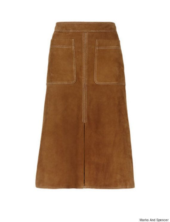 Alexa Chung And Olivia Palermo's Marks And Spencer Autograph Suede Skirt Is Finally Available To