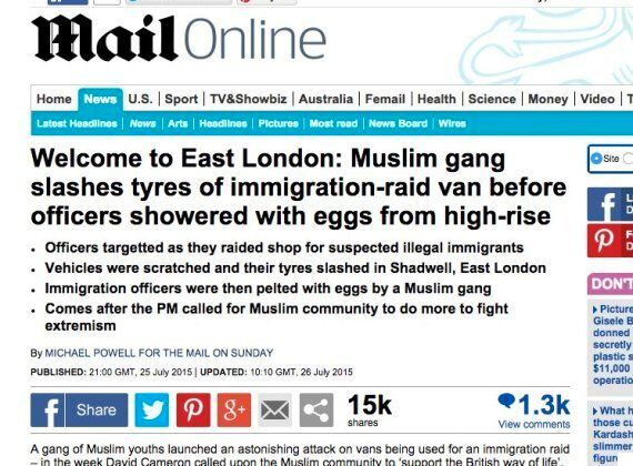 Mail On Sunday Apologises For Offensive 'Muslim Gang's Attack On Immigration-Raid Van'