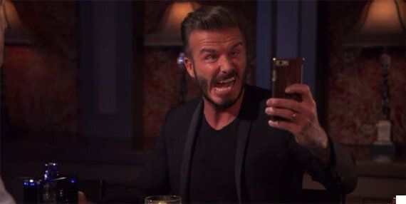 David Beckham Attempts To Take An Ugly Selfie. Succeeds. (PICS,