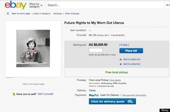 Uterus For Sale On Ebay To Fund Ann Truscott's Breast Cancer