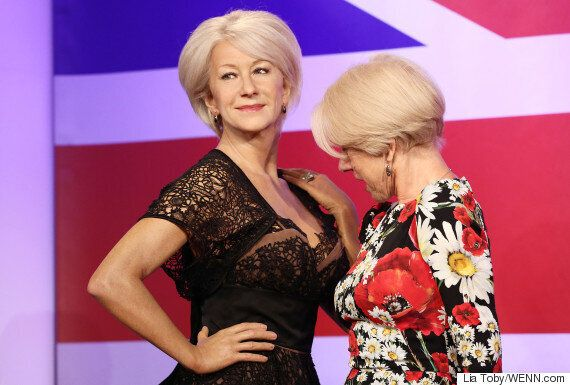 Dame Helen Mirren Snapped Looking At Her Own Waxwork's Cleavage, During Madame Tussauds Event