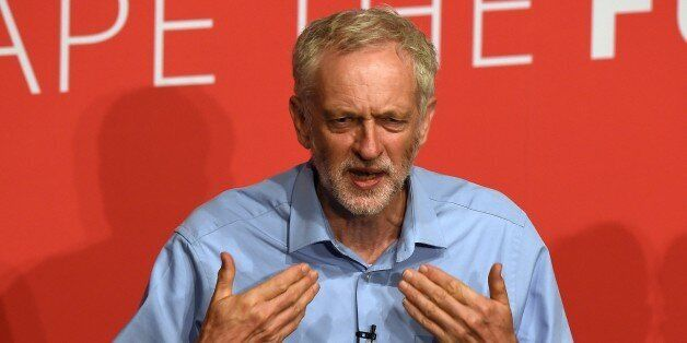Jeremy Corbyn takes part in a Labour Party leadership hustings event in Warrington, north west England...