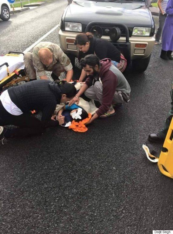 Sikh Harman Singh Removes Turban To Help Injured Child Hit By