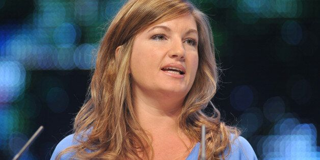 Karren Brady, managing director of Birmingham City Football Club gives a speech at The Conservative Party...