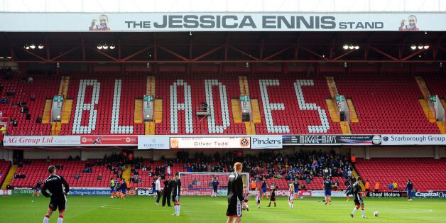 File photo dated 13-10-2012 of A general view showing the renamed Jessica Ennis Stand at Bramall Lane,