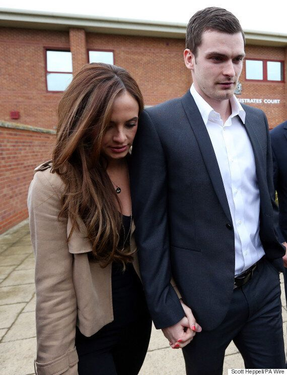 Adam Johnson Arrives At Court With Girlfriend Stacey Flounders To Face Grooming